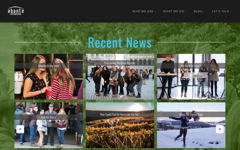 Screenshot of Press Page abante.me - News - Abante International - captured May 21, 2017