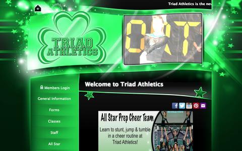 Screenshot of Home Page triadathletics.com - Triad Athletics - captured Oct. 7, 2014