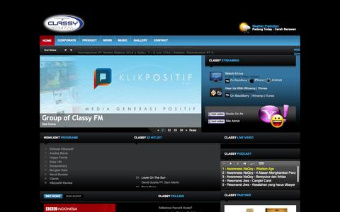Screenshot of Maps & Directions Page classyfm.co.id - #1 Choice Radio Station in Padang - captured Oct. 1, 2014
