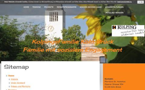 Screenshot of Site Map Page jimdo.com - Sitemap - Kolping Mitglied werden - captured April 1, 2017