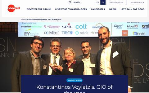Screenshot of Press Page edenred.com - Konstantinos Voyiatzis. CIO of the year   Edenred - captured July 8, 2019