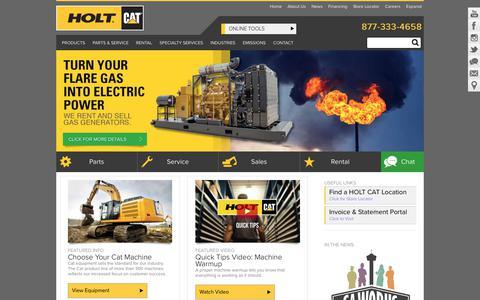 HOLT CAT Machines & Engines: Caterpillar Machines, Heavy Equipment, Generators, Texas