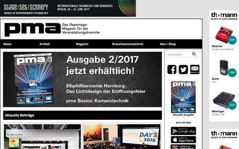 Screenshot of Home Page pma-magazin.de - PMA: PMA - captured March 28, 2017