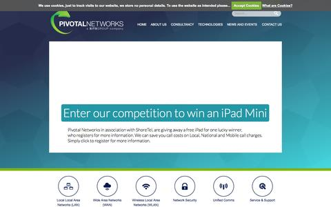 Screenshot of Home Page pivotalnetworks.co.uk - Pivotal Networks - Network / Telecommunications Specialists - captured Jan. 23, 2015