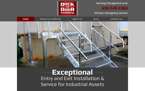 Screenshot of Home Page docknational.com - Dock & Door National LLC | Overhead Doors Saint Charles - captured Oct. 9, 2018