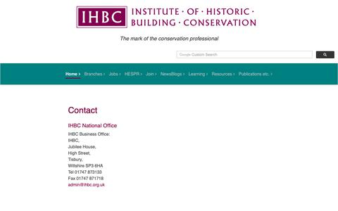 Screenshot of About Page ihbc.org.uk - About the IHBC - captured Oct. 21, 2018