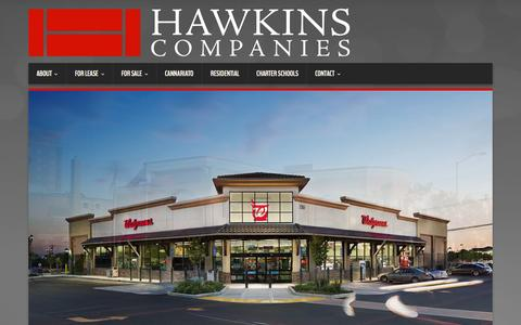 Screenshot of Home Page hcollc.com - Hawkins Companies - Commercial Developers - captured Oct. 2, 2014