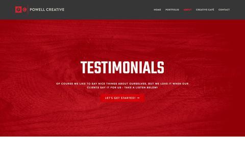 Screenshot of Testimonials Page powellcreative.com - Testimonials – Powell Creative - captured Aug. 17, 2017