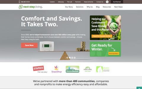Screenshot of Home Page nextstepliving.com - Next Step Living¨ | Save Energy at Home - Home Energy Audits MA & CT - captured Dec. 1, 2015