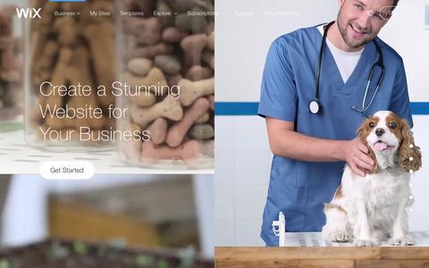Screenshot of Services Page wix.com - Business Website Builder | Create Small business website | Wix.com - captured Feb. 4, 2016