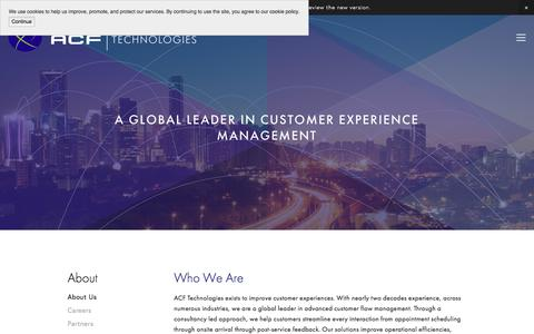Screenshot of About Page acftechnologies.com - About Us — ACF Technologies - captured Oct. 6, 2017