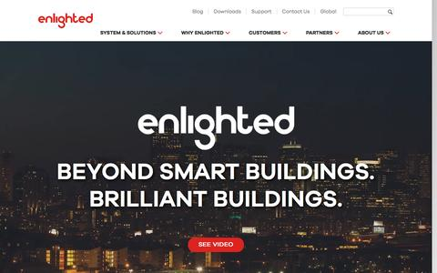 Screenshot of Home Page enlightedinc.com - Redefining Smart Buildings - Enlighted - captured May 9, 2017