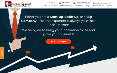 Screenshot of About Page technoexponent.com - Company Profile | Techno Exponent - captured Oct. 23, 2018