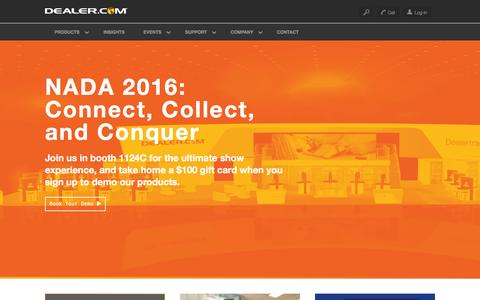 Screenshot of Home Page dealer.com - Dealer.com: Automotive Websites, SEO & Advertising - captured Feb. 1, 2016
