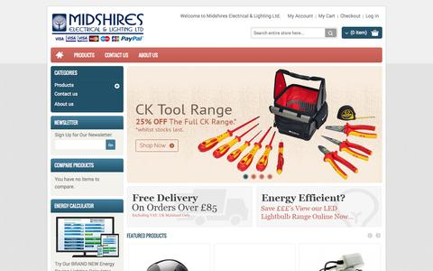 Screenshot of Home Page Login Page midselec.co.uk - Electrical Wholesalers Northampton - Midshires Electrical Wholesalers - captured Oct. 6, 2014