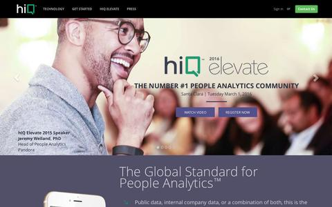Screenshot of Home Page hiqlabs.com - hiQ Labs | People Analytics - captured Feb. 22, 2016