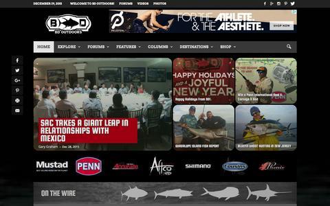 Screenshot of Home Page bdoutdoors.com - Fishing Reports | Deep Sea Fishing | Hunting | Fishing Forums | BD Outdoors - captured Dec. 28, 2015