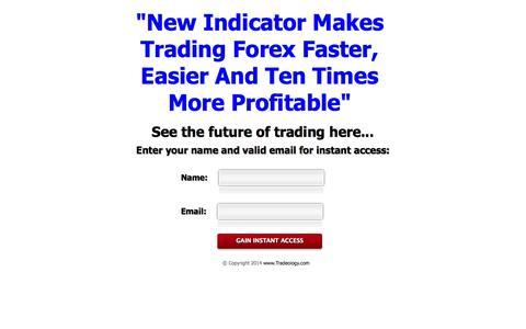 Screenshot of Home Page tradeology.com - Tradeology - captured Sept. 19, 2014