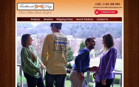 Screenshot of Home Page traditionalprep.com - Traditional Prep - captured Aug. 4, 2015