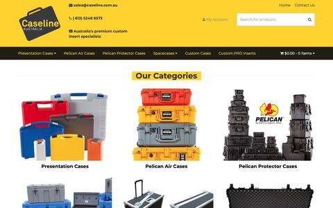 Screenshot of Products Page caseline.com.au - Products - captured Sept. 27, 2018