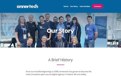 Screenshot of About Page annertech.com - Our Story | Annertech - captured Jan. 27, 2019