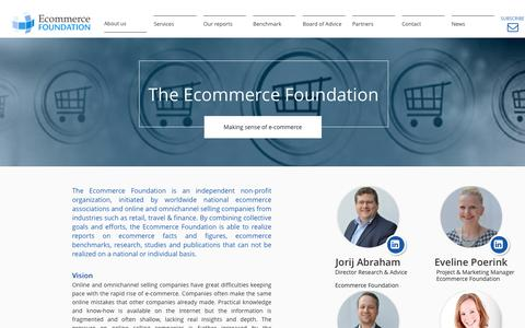 Screenshot of About Page ecommercefoundation.org - About us - captured July 18, 2016