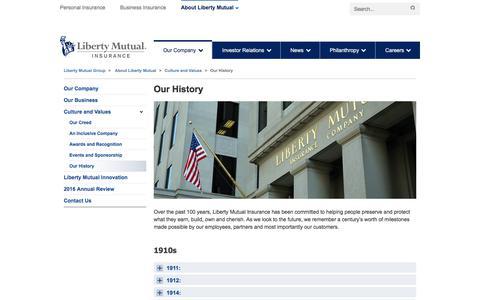 Our History at LibertyMutualGroup.com