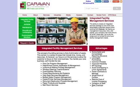 Screenshot of Services Page caravanfm.com - Caravan Facilities Management|Integrated Services - captured Jan. 25, 2016