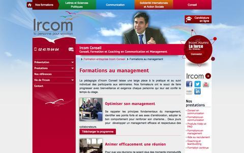 Screenshot of Team Page ircom.fr - Formations au management - captured Sept. 30, 2014