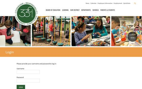 Screenshot of Login Page homerschools.org - Login - Homer Community Consolidated School District 33C - captured March 4, 2018