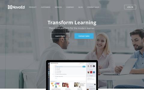 Screenshot of Home Page novoed.com - Home - NovoEd - captured Jan. 3, 2017