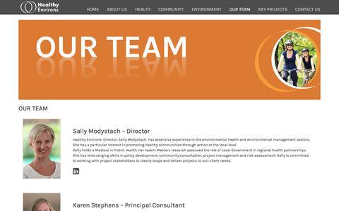 Screenshot of Team Page healthyenvirons.com.au - Our Team - captured July 31, 2017