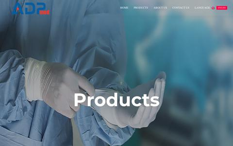 Screenshot of Products Page adpmed.com - Products | ابزار درمان پرشیا - captured Nov. 6, 2018