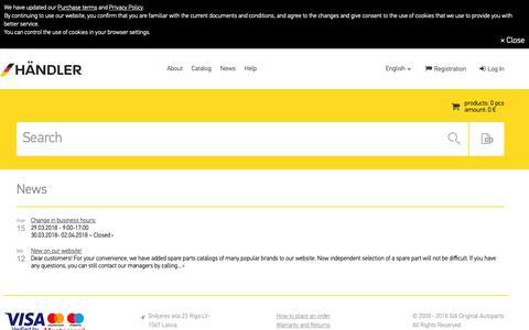 Screenshot of Press Page teilewelt-online.de - News teilewelt-online.de - captured Oct. 1, 2018