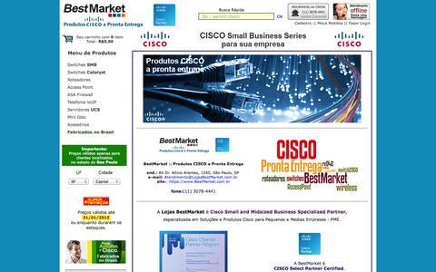 Screenshot of Home Page bestmarket.com.br - Produtos Cisco a Pronta Entrega :: BestMarket - captured Jan. 21, 2015