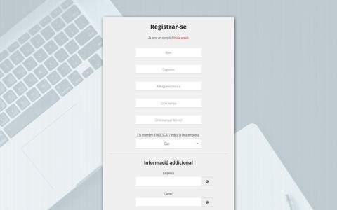 Screenshot of Signup Page indescat.org - INDESCAT | - captured Nov. 5, 2018