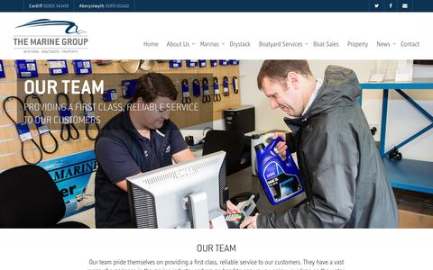 Screenshot of Team Page themarinegroup.co.uk - Our Team | The Marine Group - captured July 14, 2017