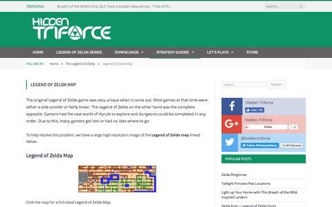Screenshot of Maps & Directions Page hiddentriforce.com - Legend of Zelda Map - captured May 19, 2017