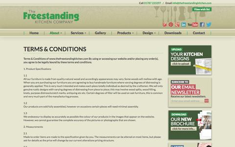 Screenshot of Terms Page thefreestandingkitchen.com - Terms & Conditions - The Freestanding Kitchen Company - captured Oct. 7, 2014