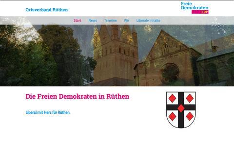 Screenshot of Home Page fdp-ruethen.de - FDP Rüthen | Start - captured March 31, 2017