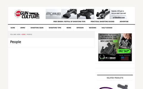 Screenshot of Team Page mygunculture.com - Shooting Industry People Interviews - captured Oct. 1, 2015