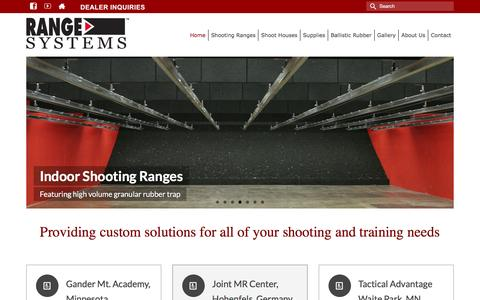 Screenshot of Home Page range-systems.com - Shooting Ranges | Shoot Houses | Range Systems - captured Jan. 10, 2016