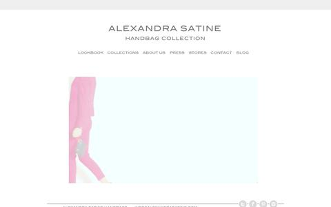 Screenshot of Home Page alexandrasatine.com - Alexandra Satine Handbag Collection - captured Feb. 4, 2016