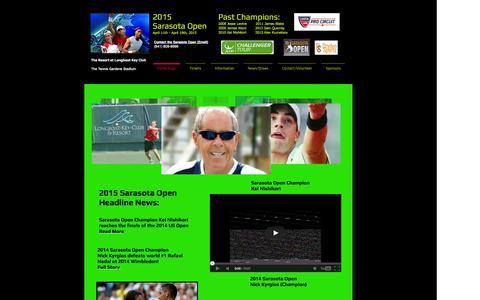 Screenshot of Home Page sarasotaopen.org - sarasotaopen - captured Sept. 30, 2014