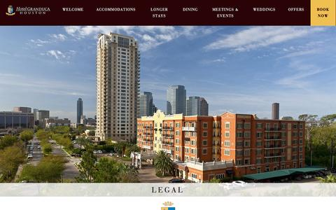 Screenshot of Terms Page granducahouston.com - Legal - Granduca Houston - captured Nov. 14, 2016