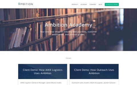 Ambition | Academy