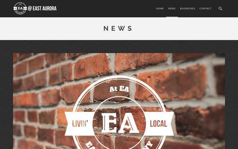 Screenshot of Press Page ateastaurora.com - News | At East Aurora - captured Feb. 3, 2016