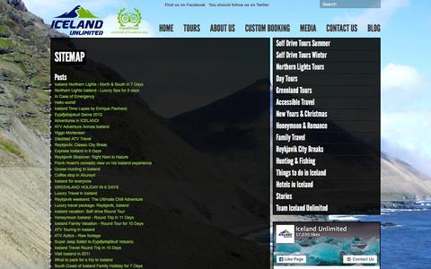 Screenshot of Site Map Page icelandunlimited.is - Sitemap - Iceland Unlimited Iceland Unlimited - captured Feb. 10, 2016