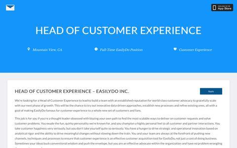 Screenshot of Jobs Page easilydomail.com - Jobs - Join the EasilyDo Team - captured July 2, 2016