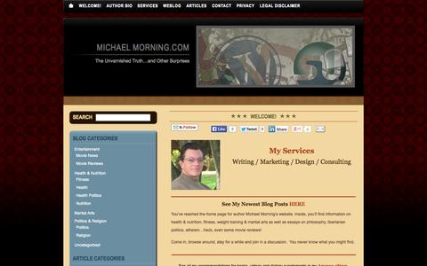Screenshot of Home Page michaelmorning.com - Michael Morning.com - captured Oct. 6, 2014